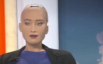 Ρομπότ «τη λέει» στους ανθρώπους σε ζωντανό τηλεοπτικό πρόγραμμα