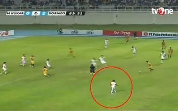 Απίστευτο σπριντ Ινδονήσιου ποδοσφαιριστή λίγο πριν σκοράρει