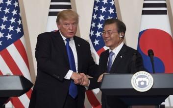 Συνάντηση Τραμπ-Μουν Τζει Ιν τον Ιούνιο για την αποπυρηνικοποίηση