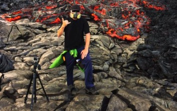 Κάμερα βρίσκεται στο δρόμο λάβας και συνεχίζει να καταγράφει τον «θάνατό» της