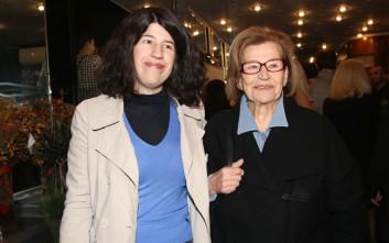 Η Κατερίνα Γιουλάκη με την κόρη της στο θέατρο