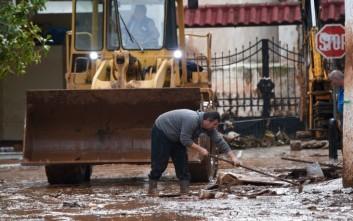 Συνεχίζονται οι εργασίες αποκατάστασης στη Μάνδρα