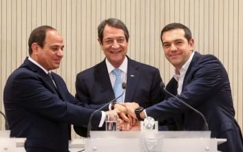 Κοινή διακήρυξη Ελλάδας, Κύπρου και Αιγύπτου για οριοθέτηση κοινών θαλάσσιων συνόρων
