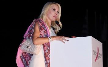 Η Ελένη Μενεγάκη στην ΕΡΤ για τον Τηλεμαραθώνιο