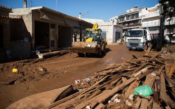 Συνεχίζονται οι εργασίες αποκατάστασης σε Μάνδρα και Νέα Πέραμο