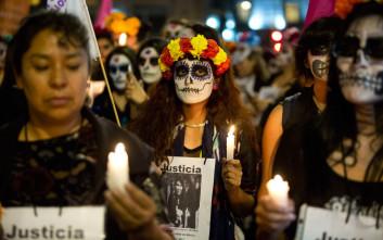 Διαμαρτυρία για τους φόνους γυναικών στο Μεξικό