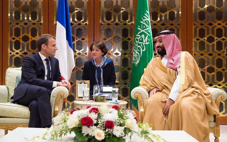 Αιφνιδιαστική επίσκεψη Μακρόν στη Σαουδική Αραβία