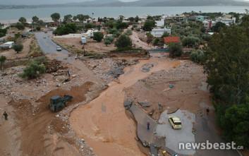 Η καταστροφή στη Νέα Πέραμο από drone