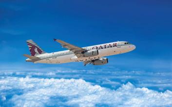 Με αψίδα νερού υποδέχτηκε την πρώτη πτήση της Qatar η Θεσσαλονίκη