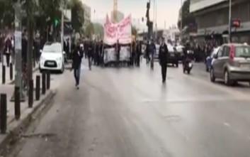 Στους δρόμους της Θεσσαλονίκης οι φοιτητές
