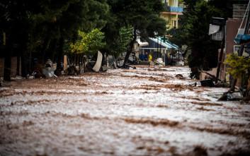 Η βροχόπτωση πάνω από Μάνδρα και Νέα Πέραμο ξεπέρασε τα 200 χιλιοστά σε έξι ώρες