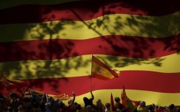 Χιλιάδες Καταλανοί υπέρ ανεξαρτησίας στους δρόμους της Βαρκελώνης