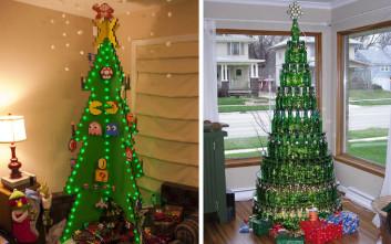 Πρωτότυπα χριστουγεννιάτικα δέντρα για να κάνετε τη διαφορά