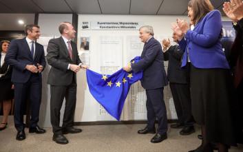 Αποκαλυπτήρια για την αίθουσα «Κωνσταντίνος Μητσοτάκης» στο Ευρωκοινοβούλιο