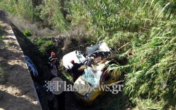 Φωτογραφίες από το θανατηφόρο τροχαίο στο Ηράκλειο