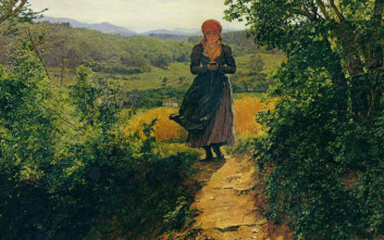 Κρατάει αυτή η γυναίκα ένα κινητό τηλέφωνο σε πίνακα του 1860;
