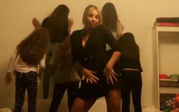 Ο χορός της Γωγώς Μαστροκώστα στο πάρτι της κόρης της