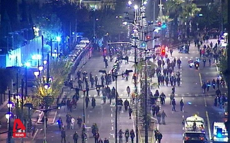 Ένταση στην Αθήνα μετά την ολοκλήρωση της πορείας για το Πολυτεχνείο