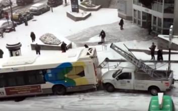 Χιονισμένοι δρόμοι, καταστροφικά αποτελέσματα