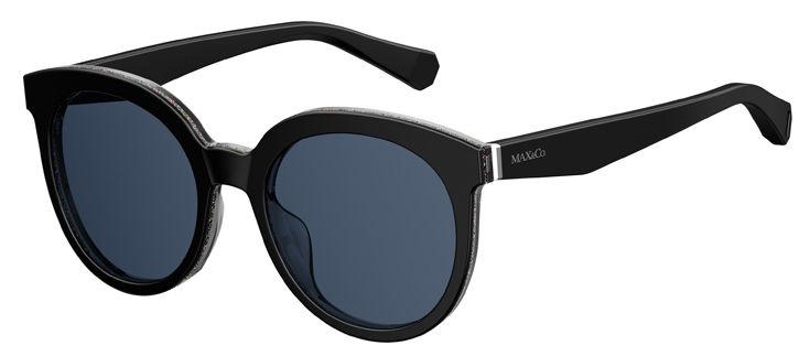 Το μοντέλο MAX Co. 348 S διατίθεται σε μαύρο με γκλίτερ στο εσωτερικό του  μπροστινού τμήματος και μπλε φακούς f67af001b41