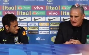Ο προπονητής της Βραζιλίας υπερασπίστηκε τον Νεϊμάρ και εκείνος έβαλε τα κλάματα