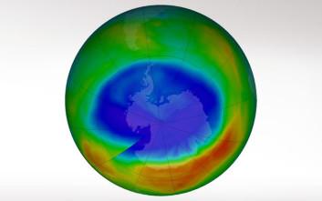 Συρρικνώνεται η τρύπα του όζοντος