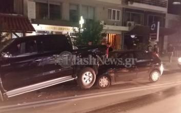 Σφοδρή σύγκρουση αυτοκίνητων στο κέντρο του Ρεθύμνου