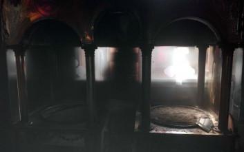 Με πυρκαγιά απειλήθηκε εκκλησία στη Σούδα
