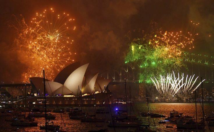 To 2018 ξημέρωσε στον Ειρηνικό και την Αυστραλία
