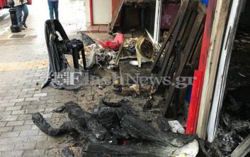 Παρανάλωμα του πυρός έγινε κατάστημα χαλιών στα Χανιά