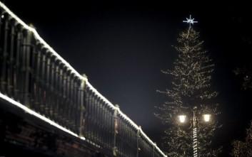 Φωταγωγήθηκε το υψηλότερο χριστουγεννιάτικο δέντρο στην Ελλάδα