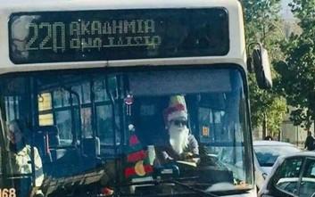 Οδηγός λεωφορείου του ΟΑΣΑ έγινε ο Άγιος Βασίλης