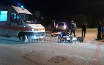 Σοβαρό τροχαίο με τραυματισμό δικυκλιστή στη Λαμία