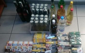 Συνελήφθησαν πέντε άτομα στον Προμαχώνα Σερρών για λαθρεμπόριο ποτών και τσιγάρων