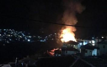 Σπίτι παραδόθηκε στις φλόγες στο Μέτσοβο