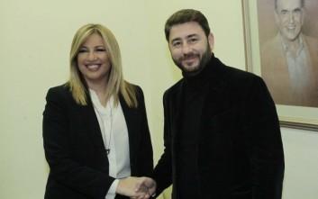 Τετ α τετ Γεννηματά - Ανδρουλάκη στα γραφεία του ΠΑΣΟΚ