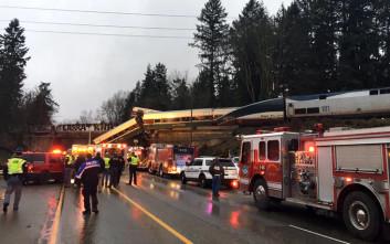 Αρκετοί νεκροί από τον εκτροχιασμό τρένου στην Ουάσιγκτον