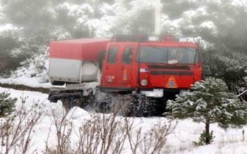Εξαμελής οικογένεια αποκλεισμένη από τα χιόνια στην Αχαΐα