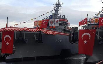 Ο τουρκικός στόλος παρέλαβε νεότευκτο πλοίο διάσωσης υποβρυχίων