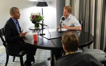 Όταν ο πρίγκιπας Χάρι πήρε συνέντευξη από τον Μπαράκ Ομπάμα
