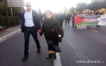 Η Αλέκα Παπαρήγα στην πορεία του ΠΑΜΕ