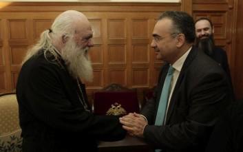 Στον Ιερώνυμο ο πρόεδρος του Δικηγορικού Συλλόγου Αθηνών