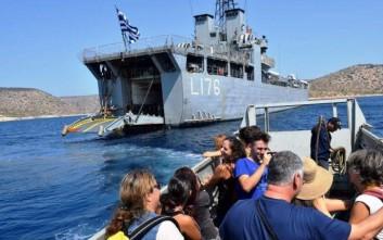 Το αρματαγωγός «Λέσβος» προσέκρουσε σε άλλα πλοία στο ναύσταθμο Σαλαμίνας