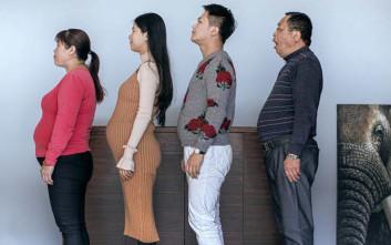 Οικογένεια Κινέζων άρχισε εντατική γυμναστική και αυτό είναι το αποτέλεσμα
