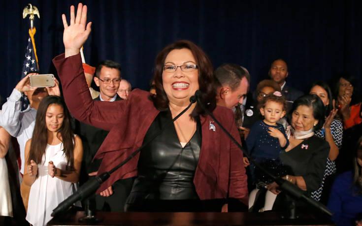 Η πρώτη γερουσιαστής που θα γεννήσει κατά τη διάρκεια της θητείας της