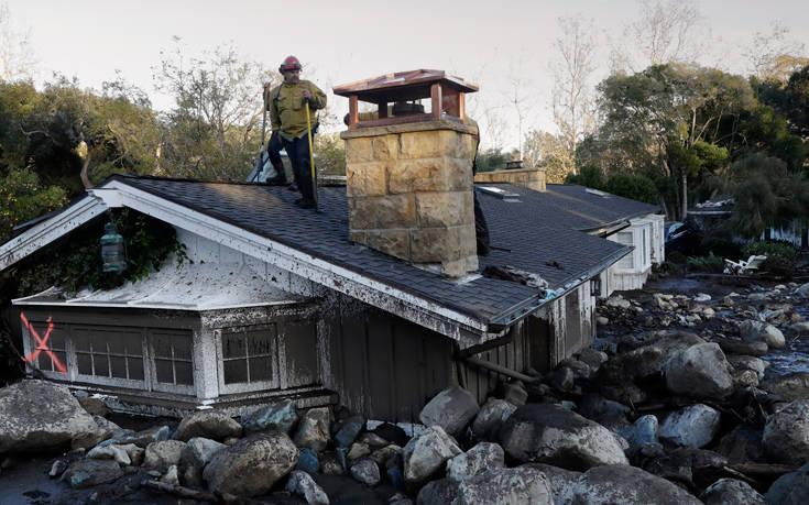Απέραντος λασπότοπος η νότια Καλιφόρνια, δεκατρείς άνθρωποι αγνοούνται