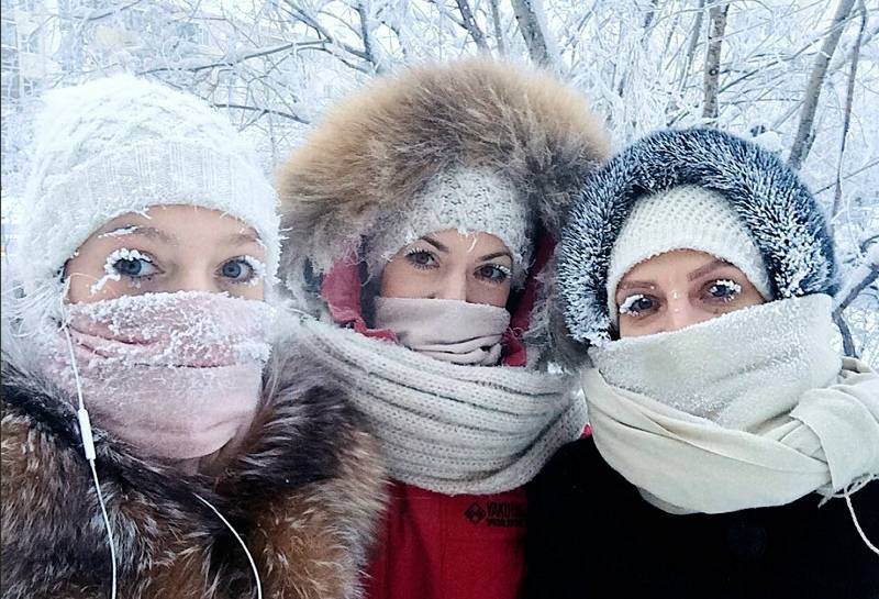 CORRECTION Russia Cold Weather