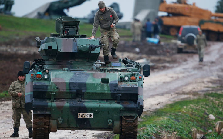 Αντιμέτωπος με Δυτικούς ο τουρκικός στρατός στην Αφρίν