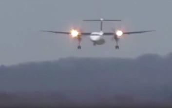 Η τρομακτική προσγείωση αεροπλάνου που «χτυπούν» ισχυροί πλευρικοί άνεμοι