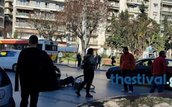 Αυτοκίνητο παρέσυρε ποδηλάτη στην Καλαμαριά